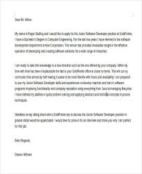 cover letter for software engineer software engineer cover letter