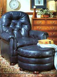 Blue Leather Chair Attractive Blue Leather Chair And Ottoman Navy Blue Leather