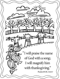 thanksgiving coloring pages scripture give