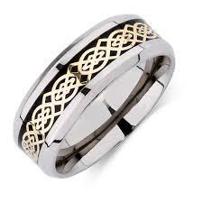 titanium men men s patterned ring in carbon fibre titanium