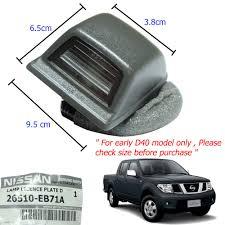 nissan thailand 05 14 genuine nissan navara d40 frontier rear bumper license plate
