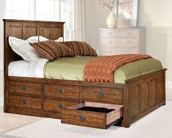 6 Drawer Bed Frame Intercon 6 Drawer Storage Bed Oak Park In Op Br 5850 6bed
