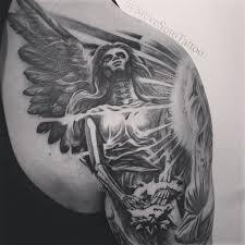 half sleeve of 3d dark angel tattoos photo 10 2017 real photo