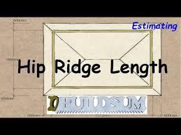 Hip Roof Measurements Hip Roof Ridge Length Youtube