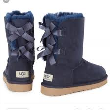 womens ugg boots navy 75 ugg shoes s bailey bow ugg boots navy sz 5 from