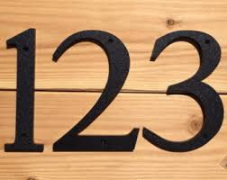 house numbers etsy