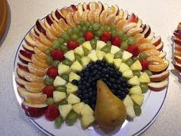 thanksgiving turkey fruit tray