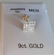 mens earrings uk 9carat yellow gold men s earrings studs ebay