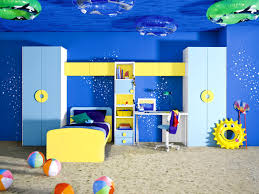 bedroom splendid underwater themed blue and yellow boys room