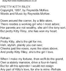 song lyrics 55 pretty kitty riley