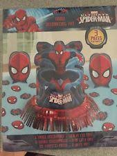 Spiderman Decoration Spider Man Table Party Decorations Ebay