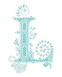 monogrammed scrapbook l what a pretty l to use on a card in a journal or on a