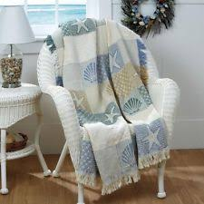 themed throw blanket seashells by the seashore 2 layer throw blanket 46 x 60 ebay