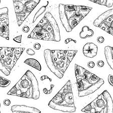 hand drawn vector illustration pizza types of pizza pepperoni