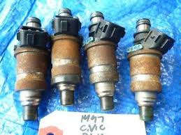 96 00 honda civic fuel injector set engine motor d16y7 06164 p2a