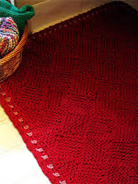 Cable Knit Rug Knitted Rug Pattern Roselawnlutheran