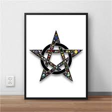 free ship emoji star art painting fist poster house decor living