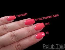 nail polish battle opi suzi u0027s hungary again vs zoya wendy and