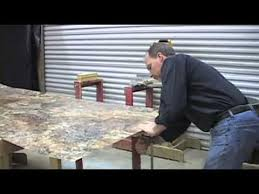 How To Install A Laminate Kitchen Countertop - diy laminate countertop and bevel edge trim youtube