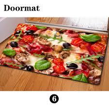 aliexpress com buy welcome doormat slip mats 3d hamburger pizza