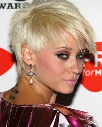 spiked hair with long bangs short spiked blonde hair for thin hair kimberly wyatt pixie cut
