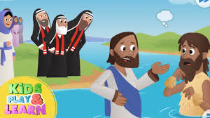 sunday beginners bible for kids jesus is baptized the