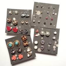 organize stud earrings diy stud earring organizer diy borchie perno