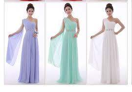 long mint green bridesmaid dress one shoulder high quality chiffon