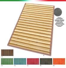 stuoia bamboo tappeto stuoia bamboo legno pedana cucina degradè passatoia bambù