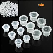 wholesale 200 pcs lot tattoo ink caps plastic cups tattoo supplies
