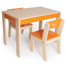 play table and chairs kids table and chairs orange