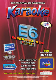 country music karaoke free chartbuster essential 450 vol 6 450 mp3g sd card