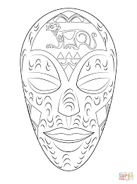 african wooden mask coloring page free printable coloring pages
