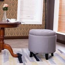 tufted ottoman bench with shoe storage and nailhead black uk