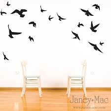 Dorm Wall Decor by Bird Wall Decal Flying Birds Vinyl Wall Art Room Decor Sticker