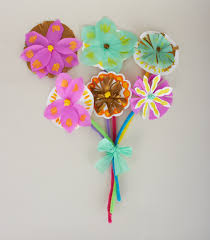 spring craft how to make a paper bouquet