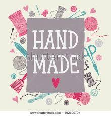 arts crafts sewing hand drawn supplies stock vector 562190794