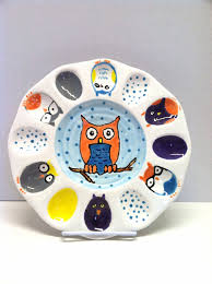 deviled egg serving tray ceramic deviled egg owl plate owl egg serving platter ready to