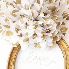 Wedding Home Decor Gold Polka Dot Pom Poms Weddings Metallic Gold Polka Dots
