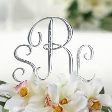 s cake topper small silver 2 1 2 inch monogram letter cake topper picks