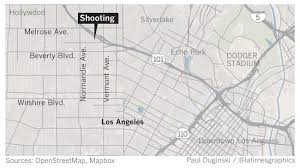East Los Angeles Map by Gunman Sought In East Hollywood Shooting That Left Two Dead And