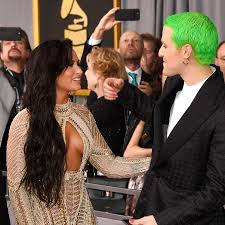 mike posner made a very public declaration of his love for demi demi lovato and mike posner the 59th grammy awards