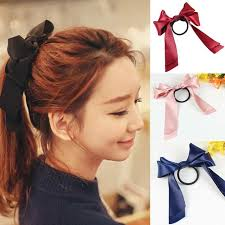 ribbon ponytail 2017 womens sweet elastic ribbon bow band hair rope satin