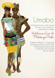 south zulu traditional wedding invitation card once upon