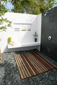 outdoor bathrooms ideas bathroom ideas modish black white outdoor bathroom with wooden