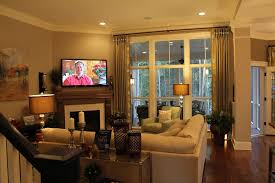 decorations living room with tv above fireplace decorating ideas