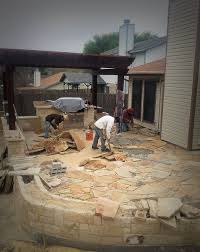 Flagstone Patio Installation S A Grows Landscape Services Images Contact Info