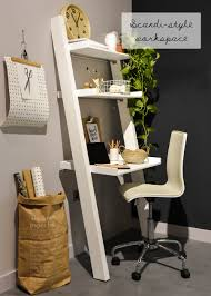 styling at dwell scandi workspace ladder desk photograph by