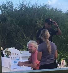 the obamas pictured with richard branson in caribbean daily mail