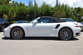 white porsche 911 convertible 2015 porsche 911 turbo s cabriolet for sale 23 used cars from